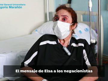 """El mensaje a los negacionistas de Elsa tras 310 días ingresada por coronavirus: """"Tomadlo en serio"""""""