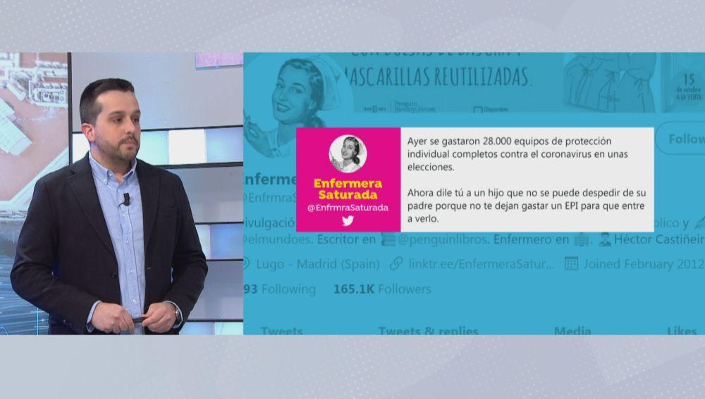 'Enfermera Saturada' critíca el uso masivo de EPIS en las elecciones catalanas