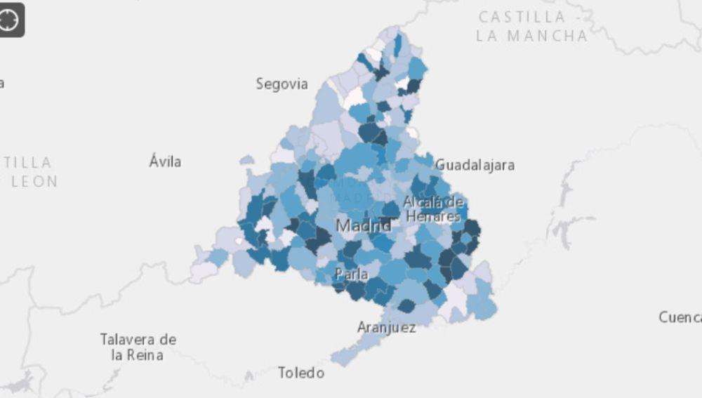 Consulta aquí el mapa sobre la presencia de coronavirus en las aguas residuales de la Comunidad de Madrid