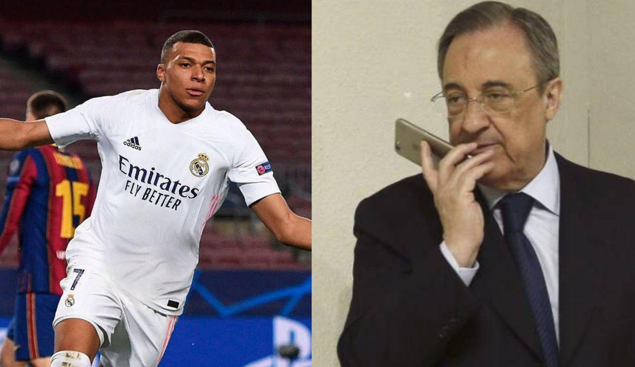 Mbappé y Florentino Pérez, protagonistas de los mejores memes tras la goleada del PSG al Barcelona en Champions