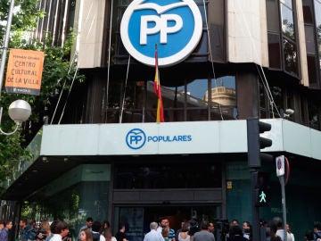 La sede nacional del PP en Génova