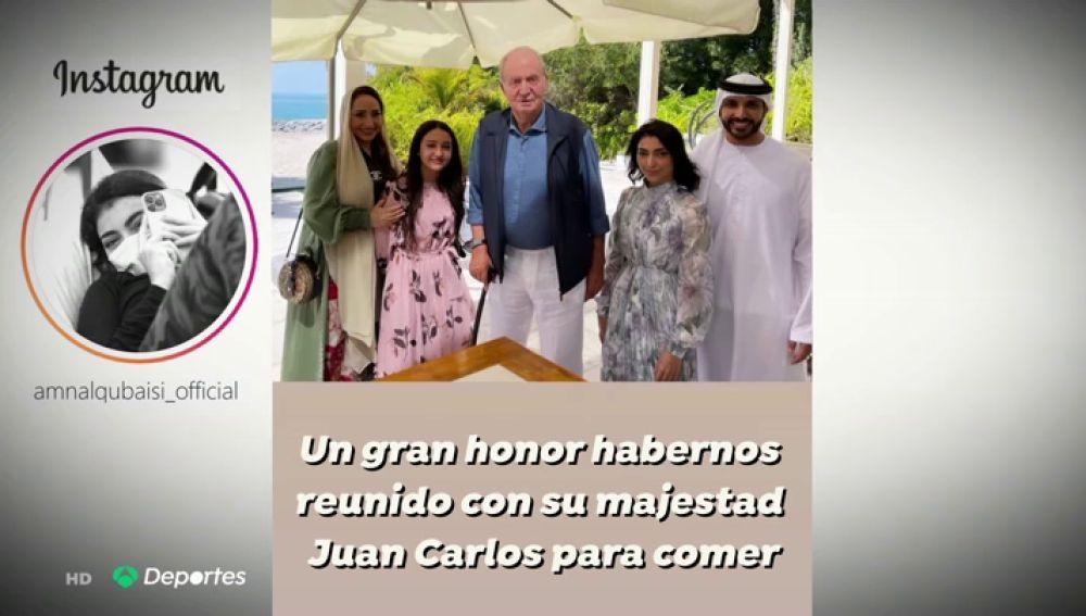 El rey Juan Carlos visita a la piloto Amna Al Qubaisi, la primer mujer piloto de Emiratos Árabes