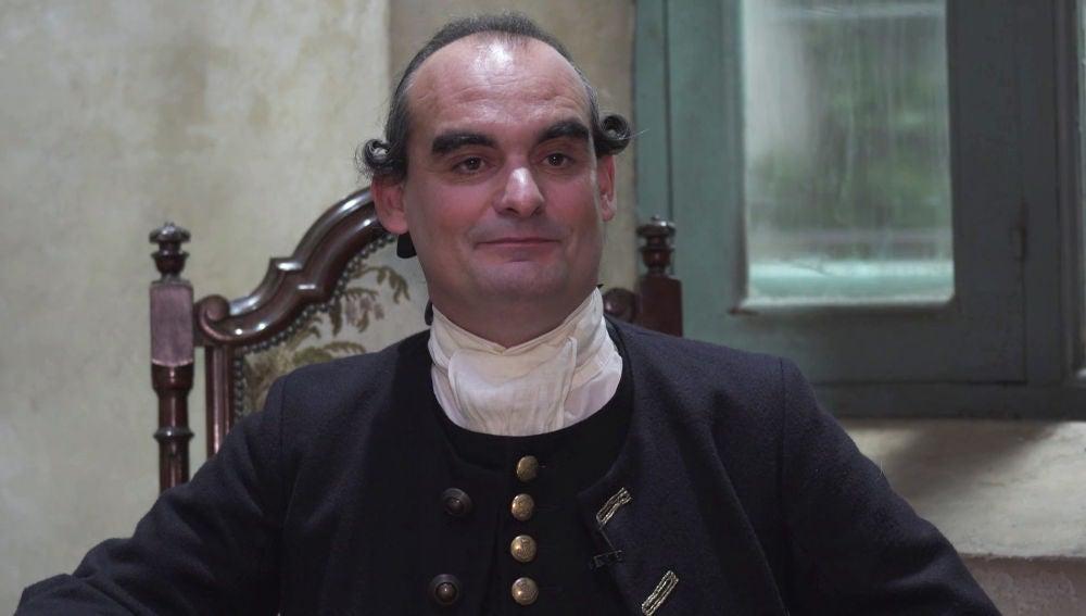 """Óscar Rabadán: """"Melquiades Elquiza es el mayordomo de Castamar, el hombre de confianza de Don Diego"""""""