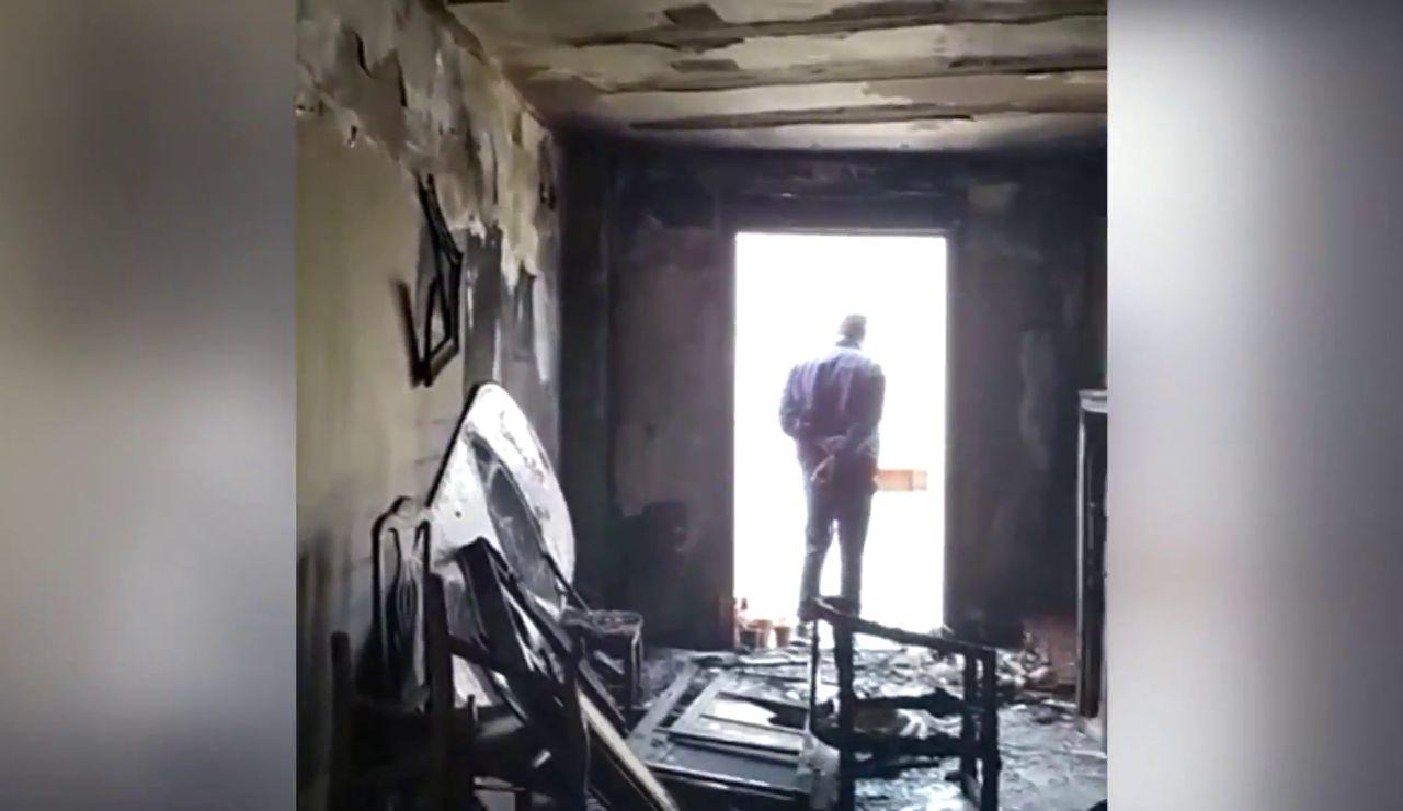 Incendio en la casa de un matrimonio jubilado en Jerez que canceló el seguro al principio de la pandemia