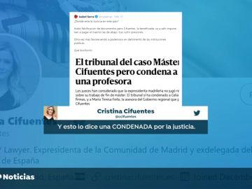 """Isa Serra asegura que es """"bochornoso"""" la absolución de Cristina Cifuentes por el caso del máster"""