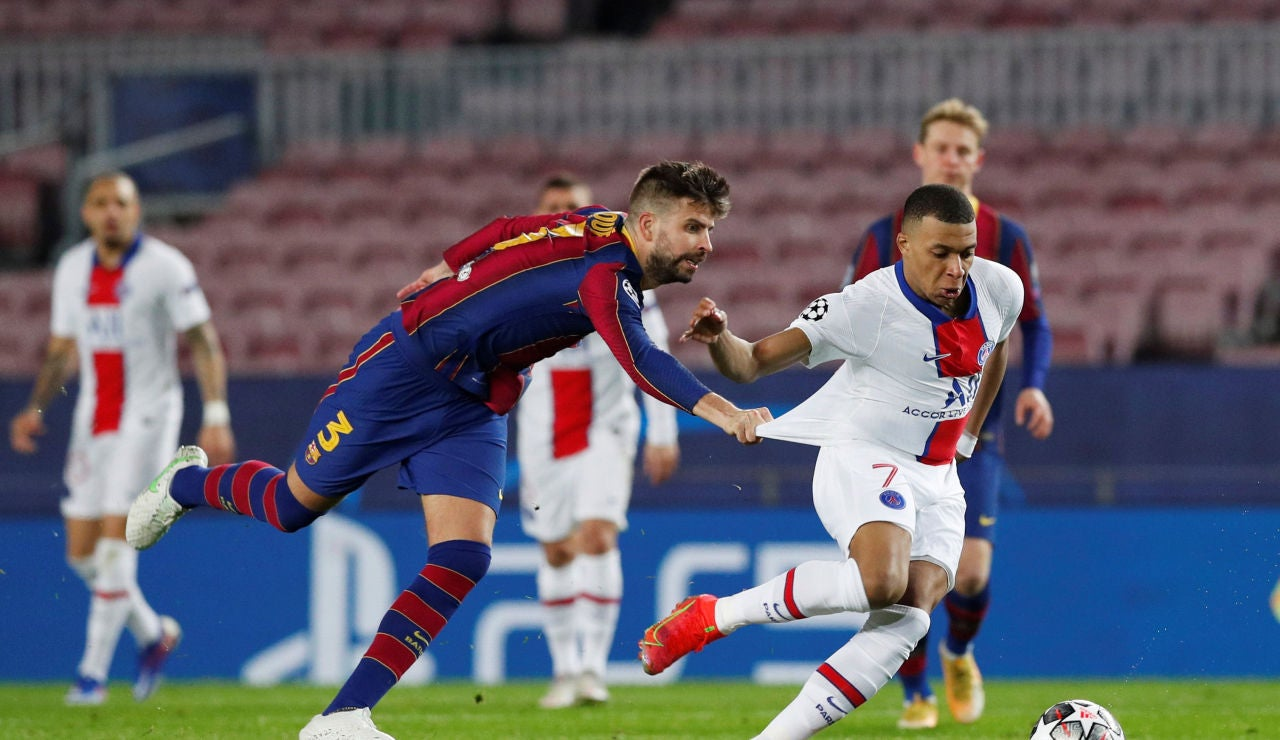 """Mbappé, a Jordi Alba en perfecto castellano durante el partido: """"En la calle yo te mato"""""""