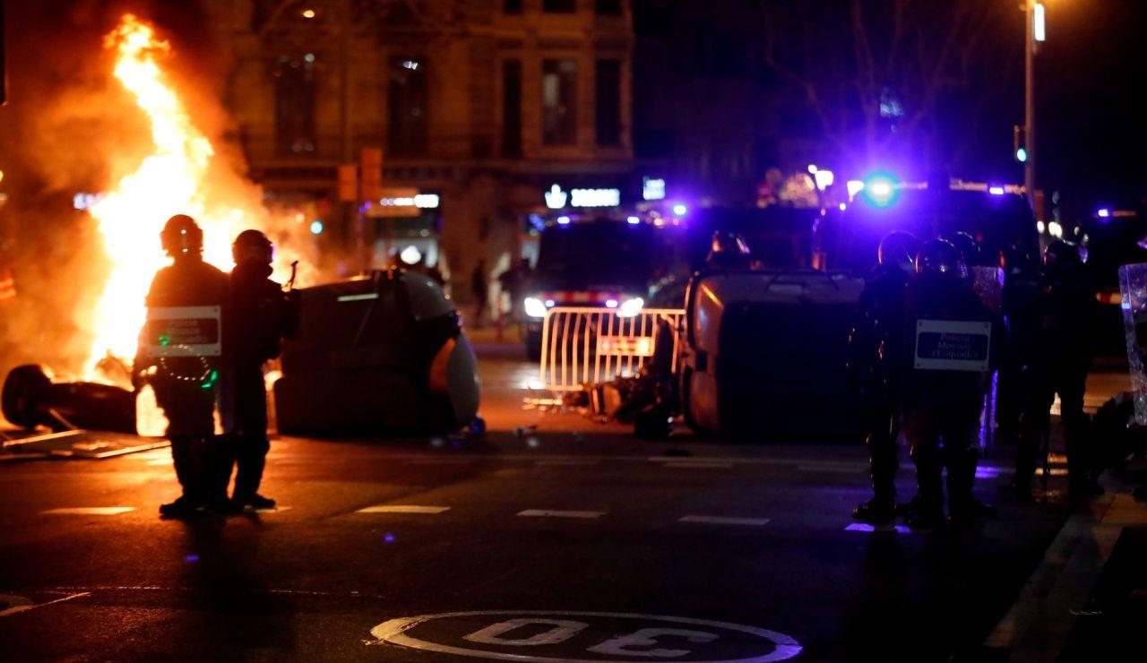 Imagen de los disturbios contra el encarcelamiento de Pablo Hásel.