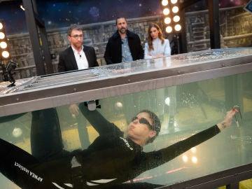 Pilar Rubio logra lo imposible en 'El Hormiguero 3.0': escapar de una jaula llena de agua