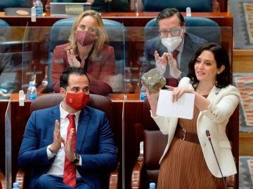 La presidenta de la Comunidad de Madrid, Isabel Díaz-Ayuso
