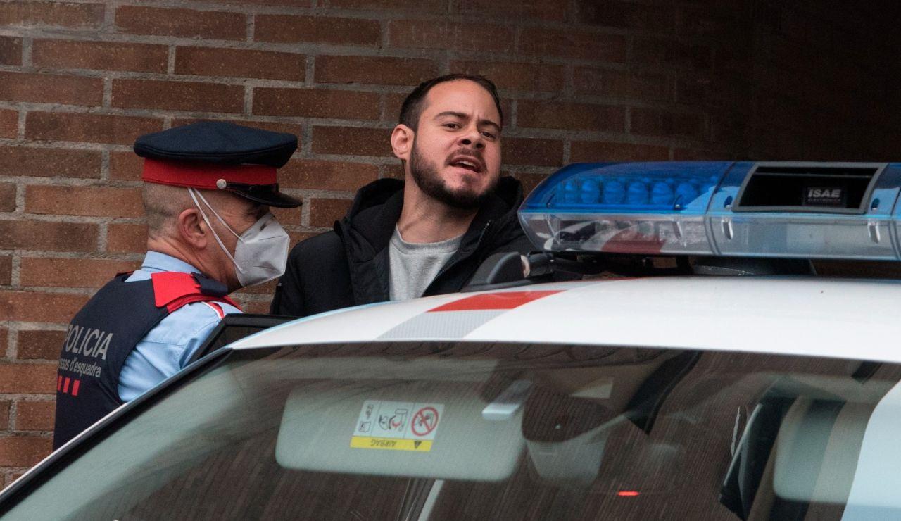 El rapero Pablo Hásel, durante su detención en Lleida.