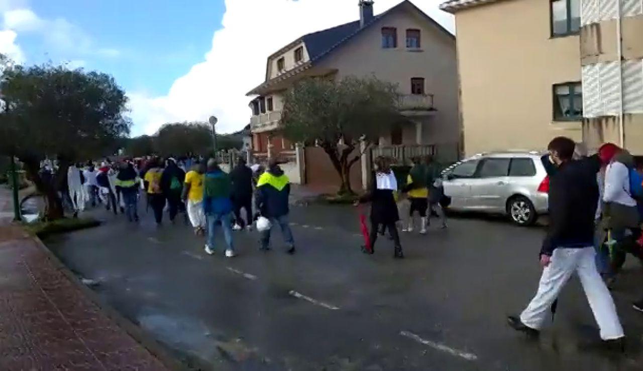 Protestas en As Somozas contra el despido de 215 trabajadores de la planta energética de Siemens