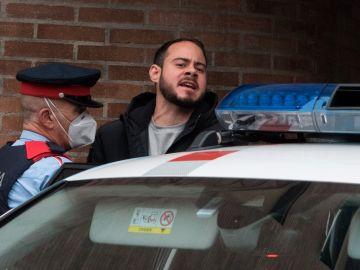 El rapero Pablo Hásel, durante su detención en Lleida