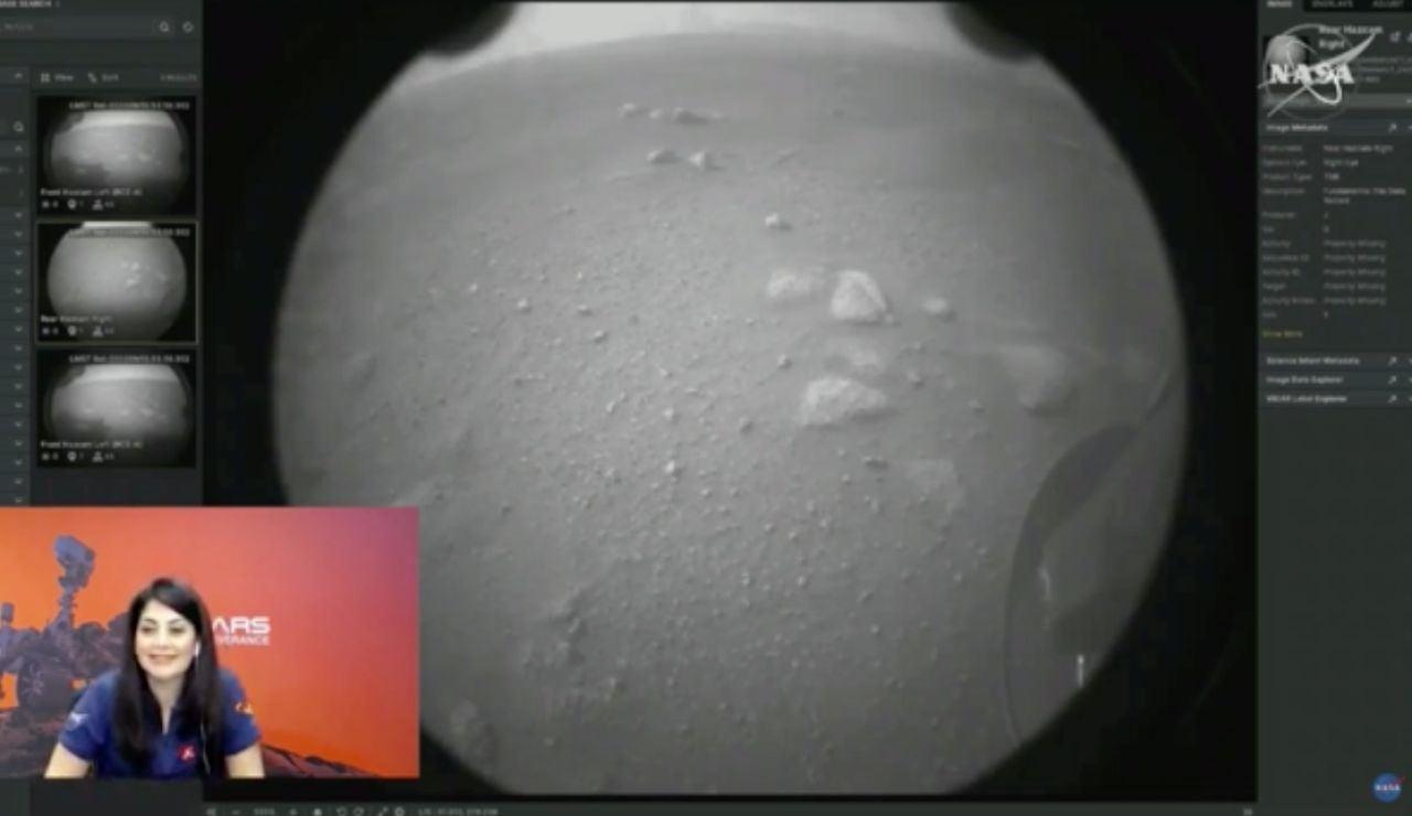 Perseverance, primera foto de Marte