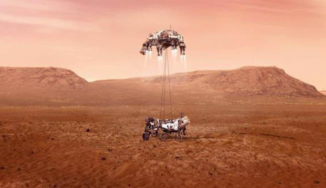 Ilustración del rover Perseverance