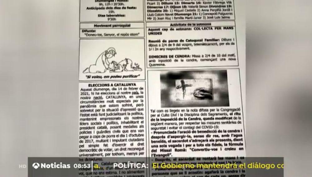 """Un párroco de Girona pide a sus feligreses votar por la independendencia un """"de un estado que no nos quiere"""""""