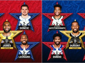 Así quedan los quintetos titulares del All Star de la NBA