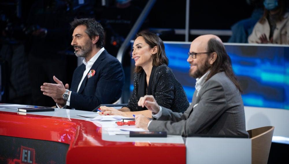 Santiago Segura, a Pablo Puyol y Jorge Sanz tras su Duelo al desnudo