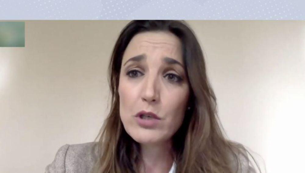 Raquel Sánz, viuda de Víctor Barrio