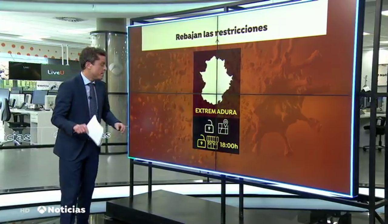 Extremadura levanta el cierre perimetral de sus municipios y reabre la hostelería hasta las 18:00 horas