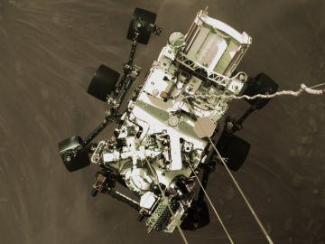 El rover Perseverance, antes de su aterrizaje en Marte.