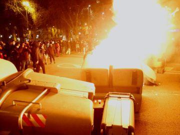 Disturbios en Barcelona este viernes.