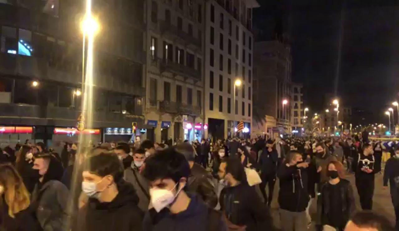 Manifestaciones en España contra el encarcelamiento de Pablo Hasél, streaming en directo