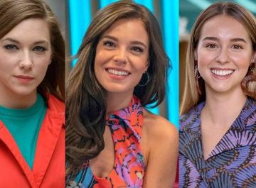 Leonor, María y Luisita, las hijas de Marcelino y Manolita
