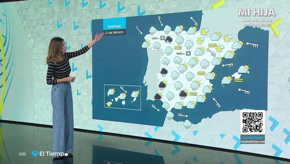 Tu Tiempo (20-02-21) Precipitaciones fuertes en las mitades oeste de Galicia y de Canarias