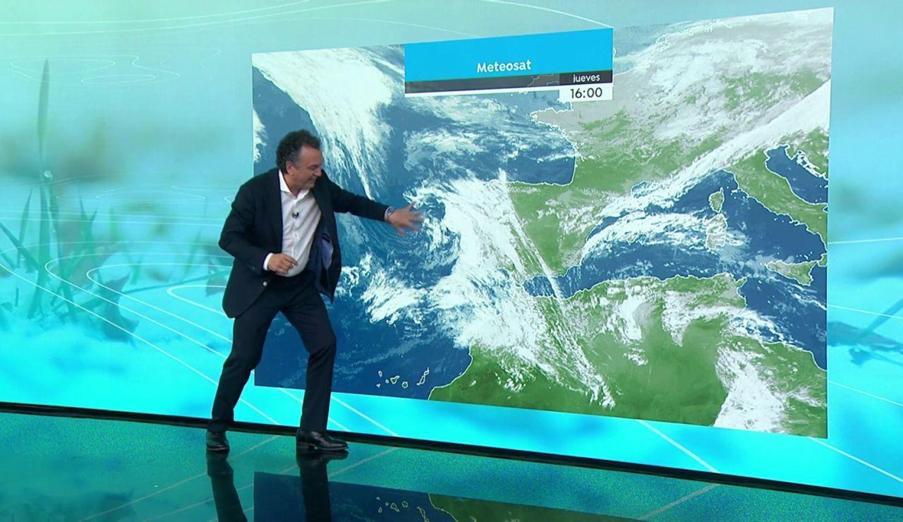 La previsión del tiempo hoy: Chubascos tormentosos en el interior de Galicia y Pirineos