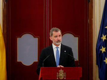 El rey Felipe VI, durante el 40º aniversario del golpe de Estado.