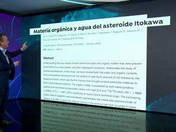 Hallan materia imprescindible para la vida en un asteroide