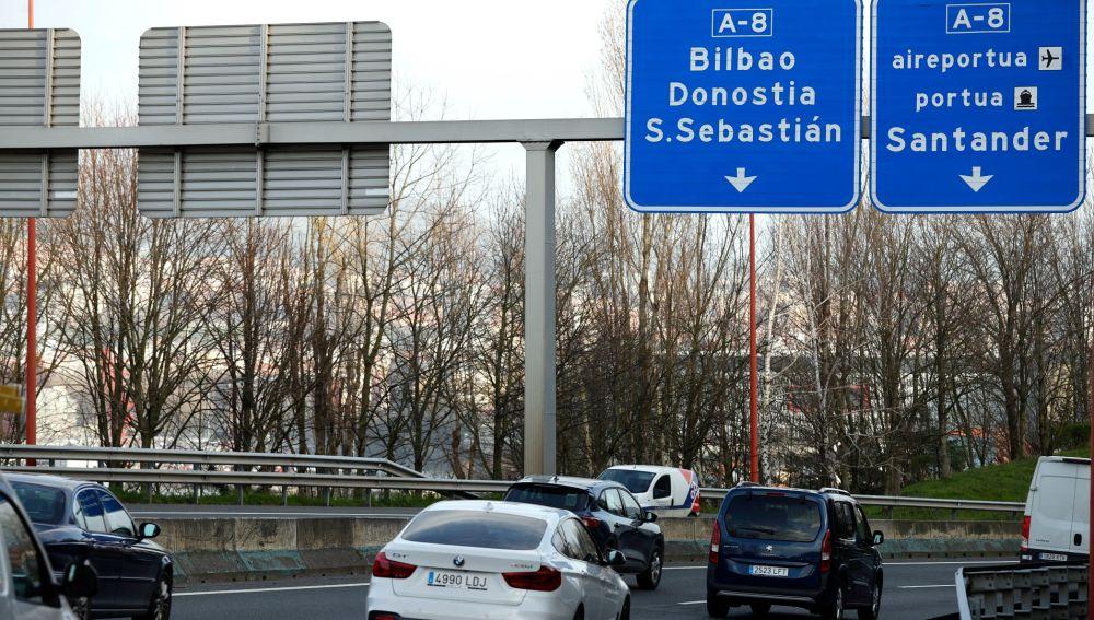 Carretera A8 en el País Vasco.
