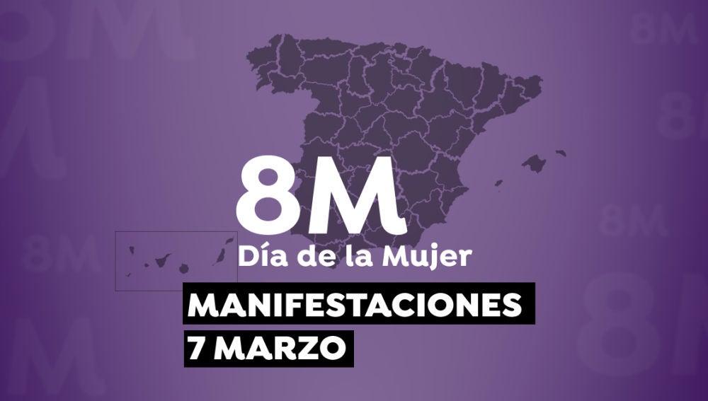 Mapa manifestaciónes 7 de marzo.