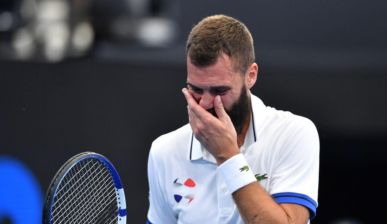 El show patético del tenista Benoit Paire: escupe sobre la marca del juez y luego se deja ganar de forma bochornosa