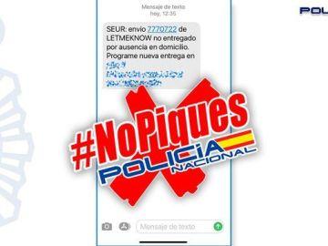 La Policía Nacional advierte en sus redes de una nueva estafa mediante SMS.