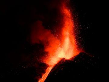Erupción del volcán Etna el 24 de febrero de 2021.