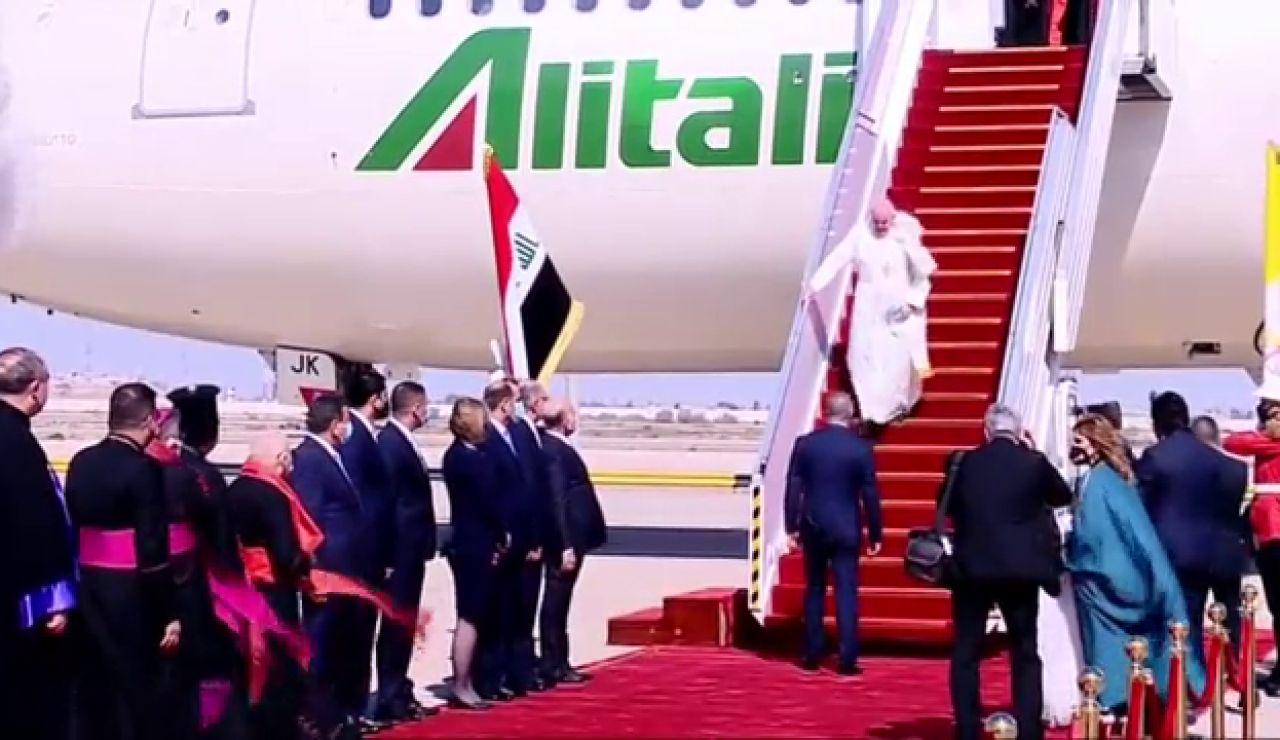 El Papa Francisco llega a Irak en una visita histórica
