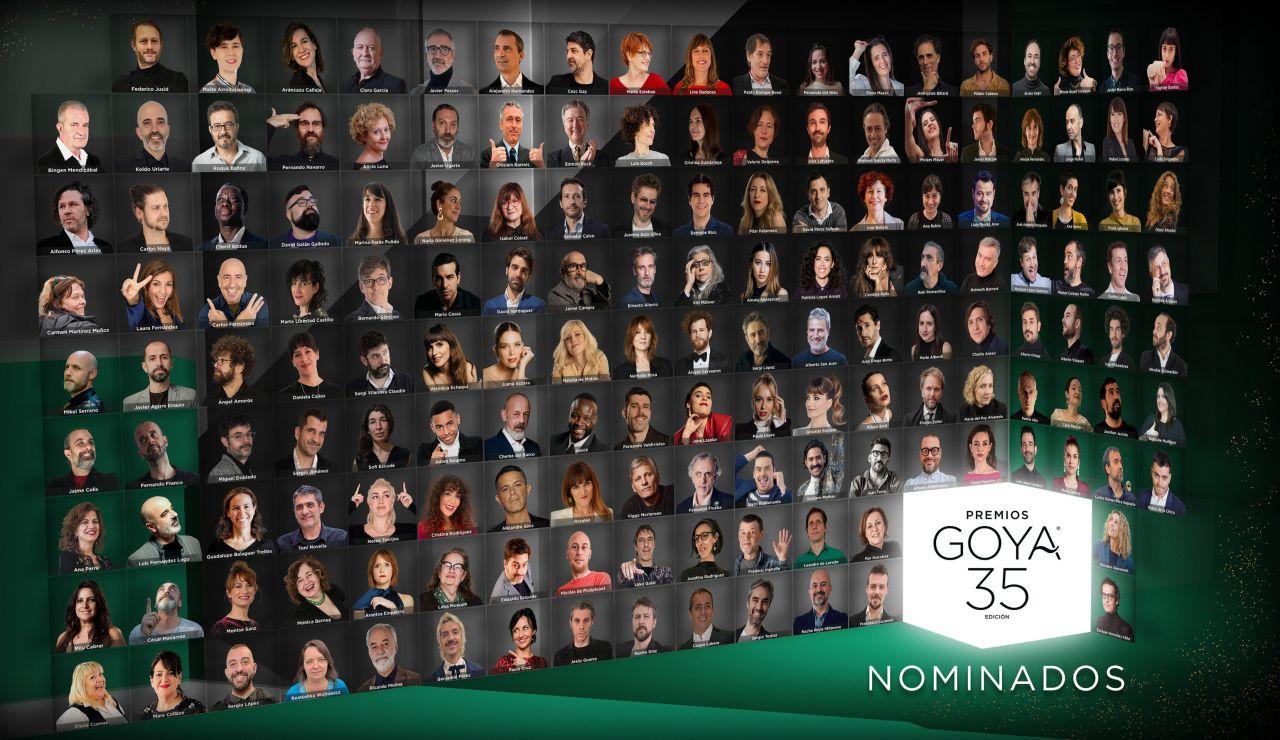 Nominados en los Premios Goya 2021