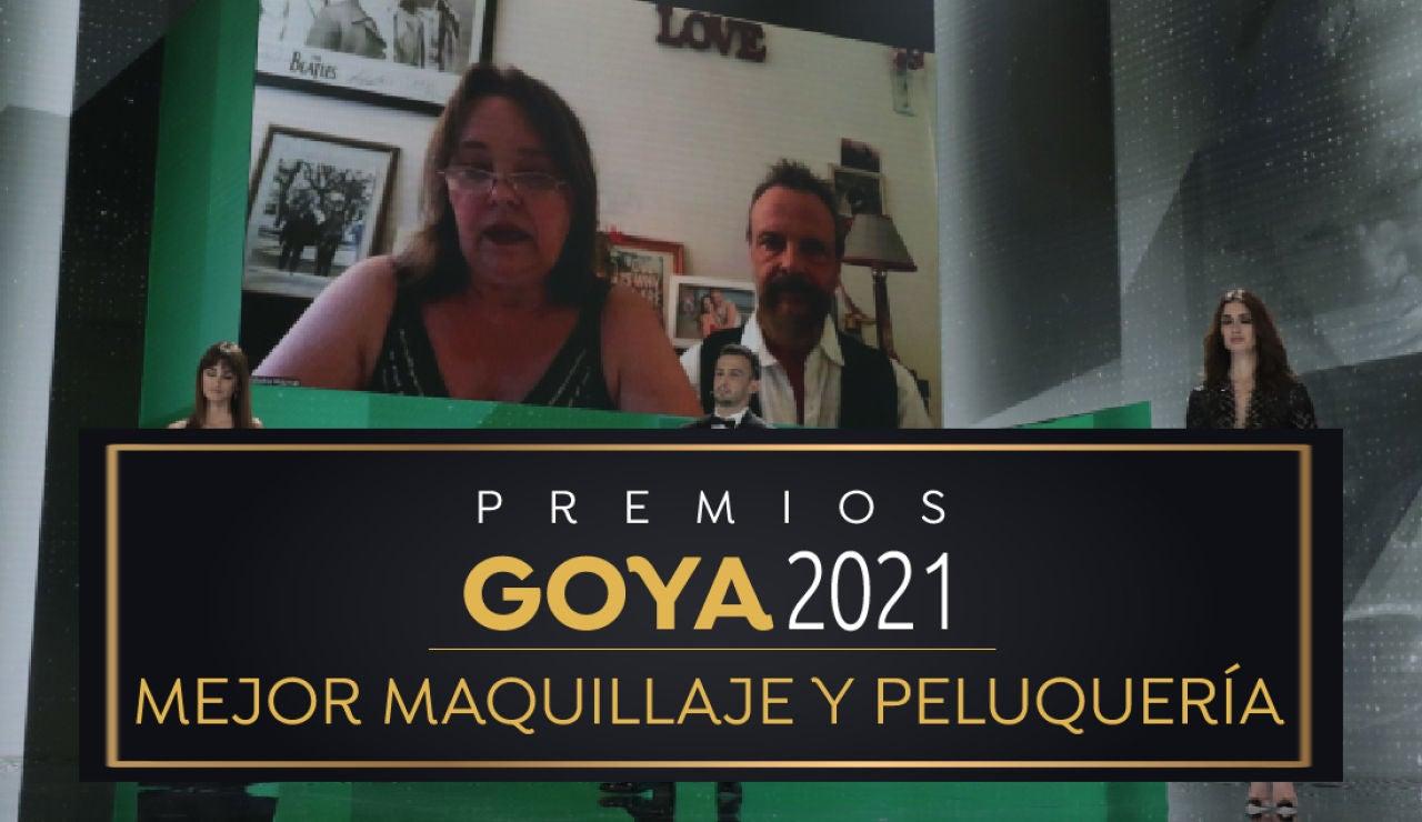 Premios Goya 2021: Beatushka Wojtowicz y Ricardo Molina por 'Akelarre'  Mejor maquillaje y peliquería