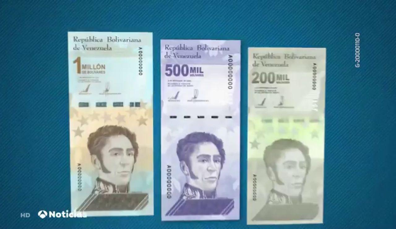 Venezuela emite billetes por valor de 1 millón de bolívares para controlar la hiperinflación