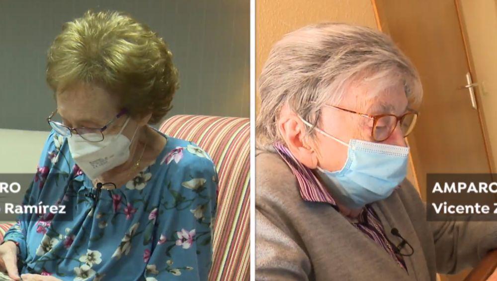 Amparo Colino Ramírez y Amparo Vicente Zacarez, dos mujeres octogenarias que han superado el coronavirus