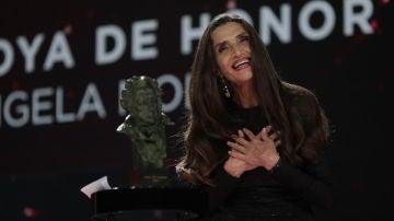 Ángela Molina tras recibir el Goya de Honor 2021