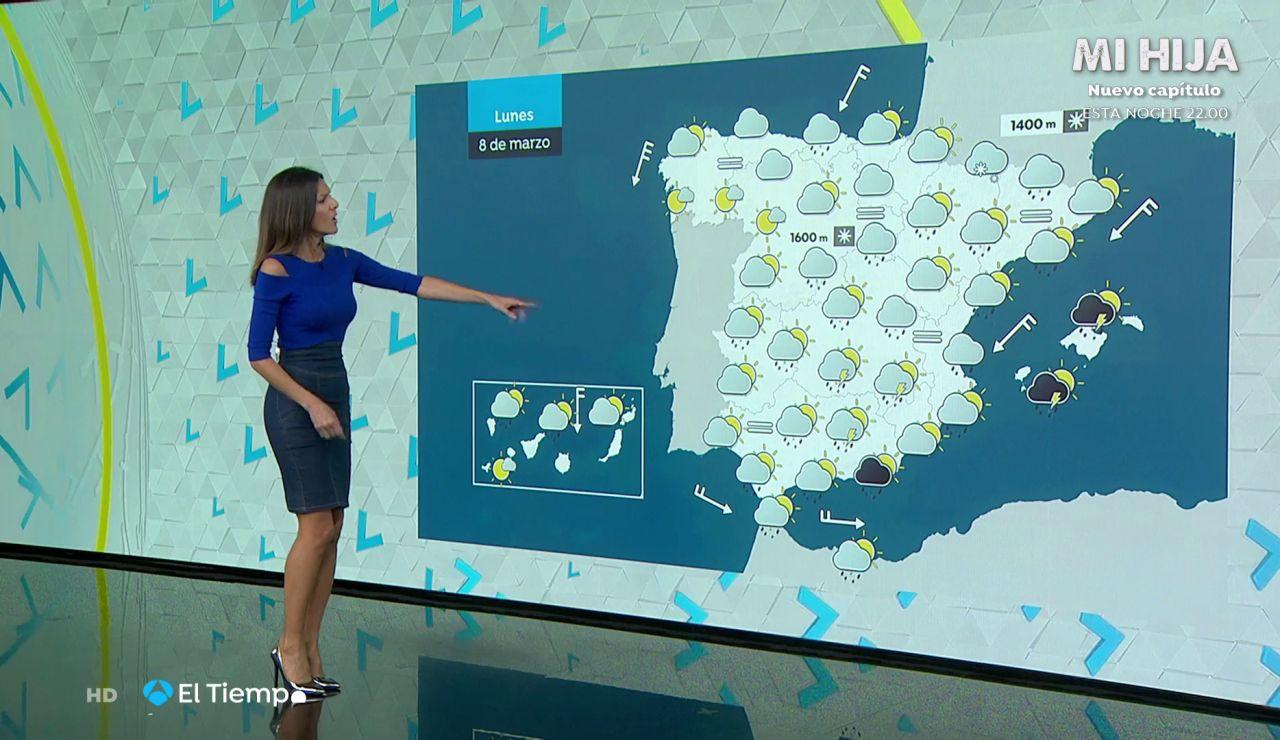 Tu Tiempo (07-03-21) Vientos fuertes en Canarias y precipitaciones en zonas de Valencia, Almería, Murcia e Ibiza