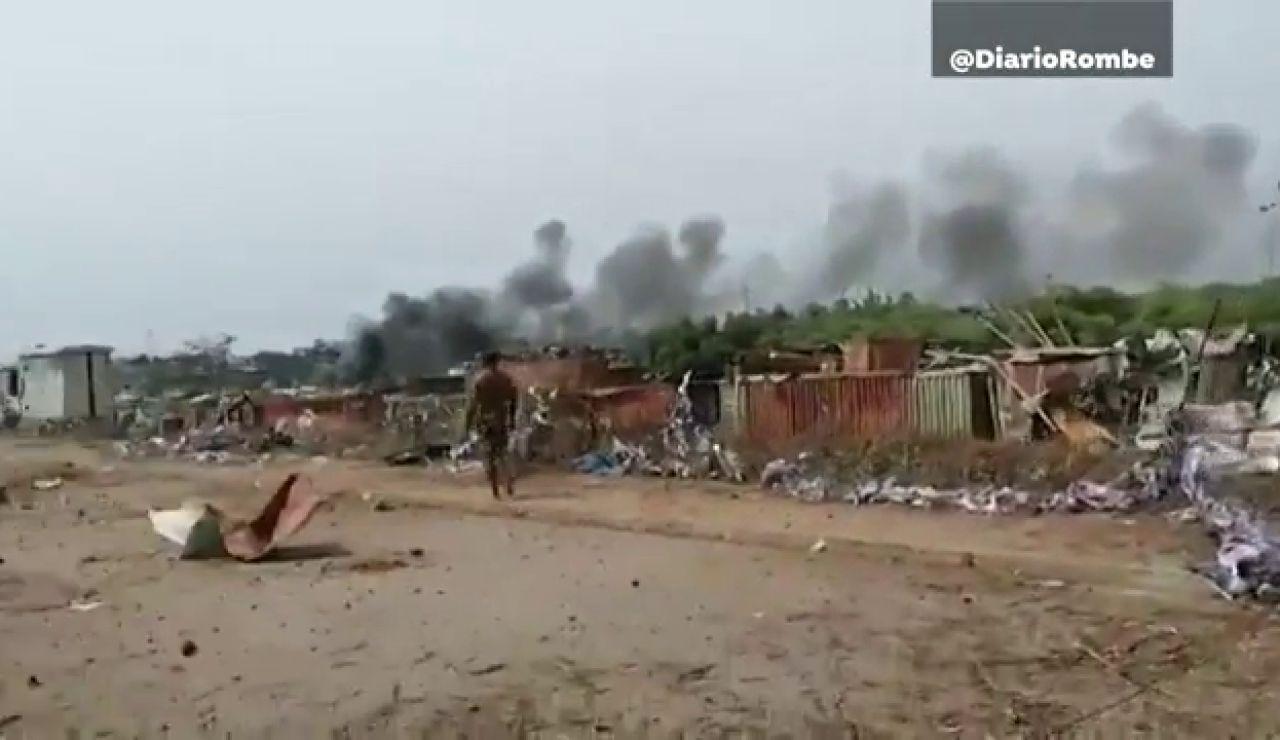 Registradas varias explosiones de gran potencia en la ciudad de Bata, Guinea Ecuatorial