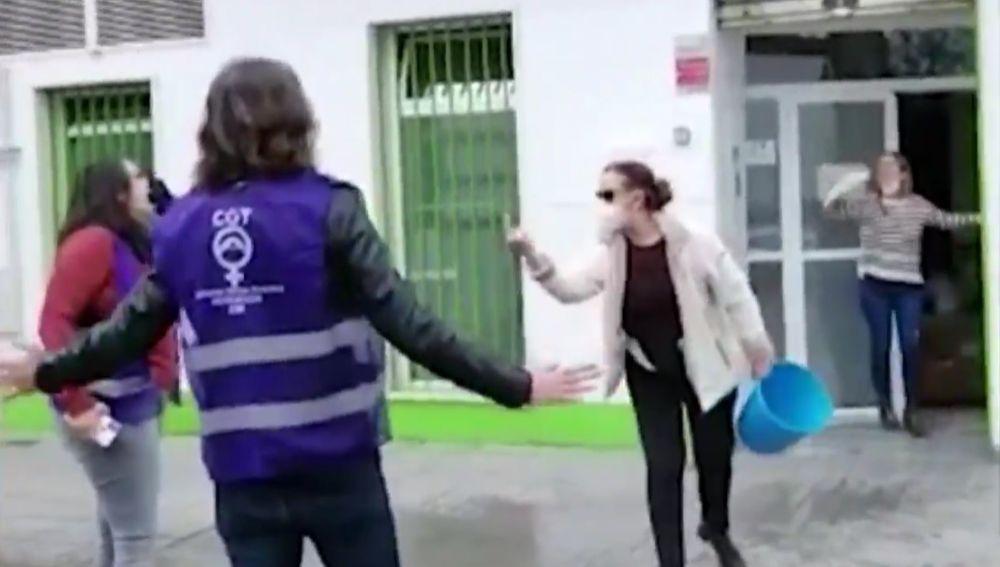 Protesta en una empresa en Córdoba.