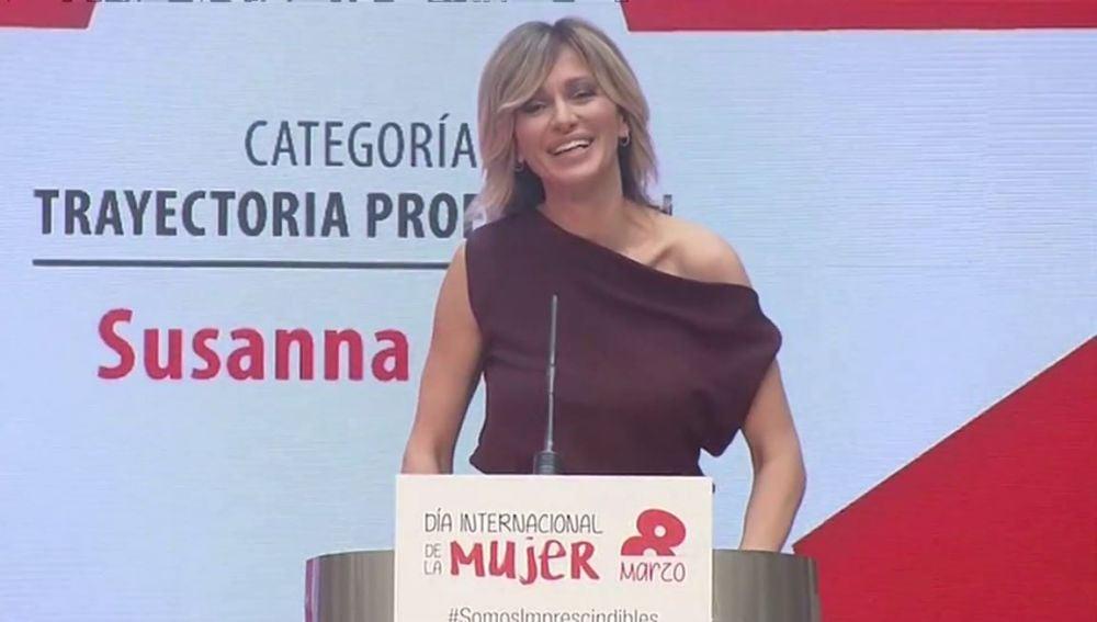 Susanna Griso, premiada por el Día de la Mujer