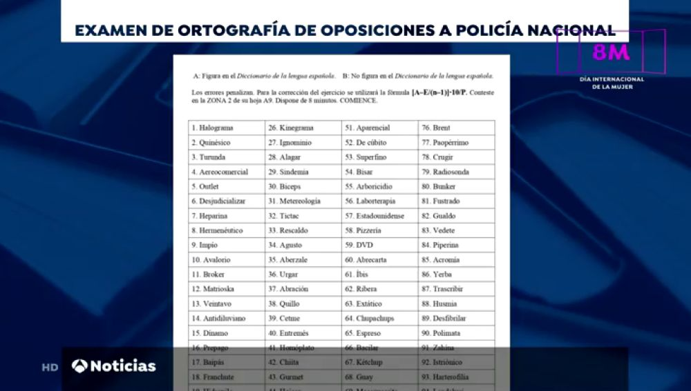 ¿Serías capaz de superar el examen de ortografía de la prueba de acceso a la Policía Nacional?