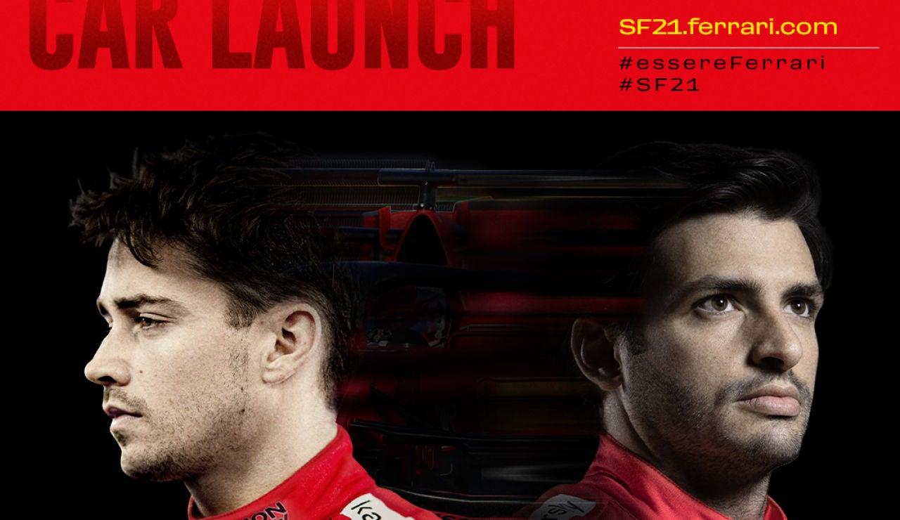Horario y dónde ver la presentación del Ferrari SF21 de Carlos Sainz en directo