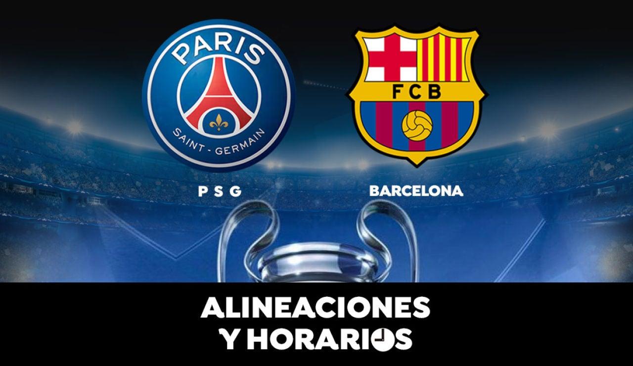 PSG - Barcelona: Horario, alineaciones y dónde ver el partido de la Champions League en directo