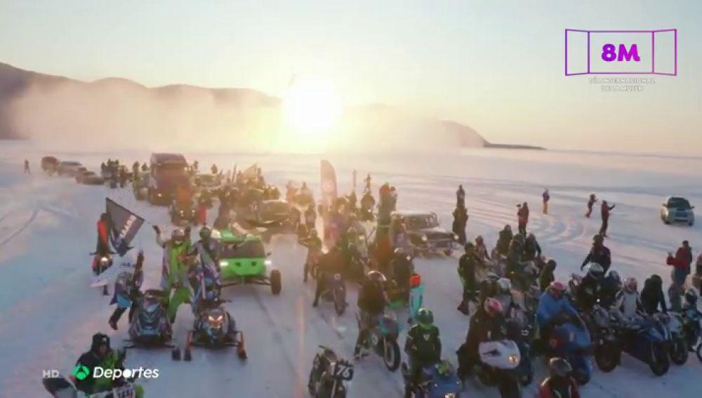La Milla del Baikal, la fiesta de la velocidad sobre el hielo y a temperaturas bajo cero